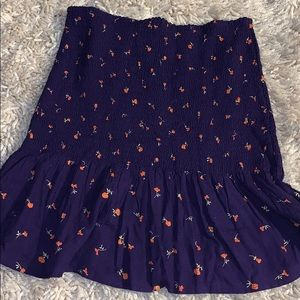 Urban outfitters short skirt with orange flowers